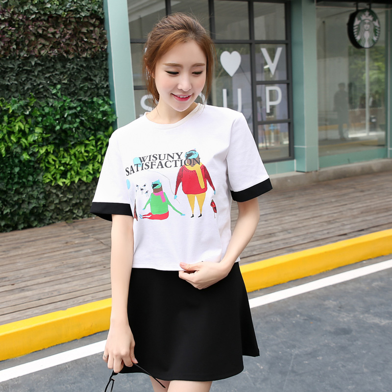2016 Fashion Brand-clothing Exclusive Creative T Shirts image Design T-shirt women's t-shirts stylish new arrival(China (Mainland))