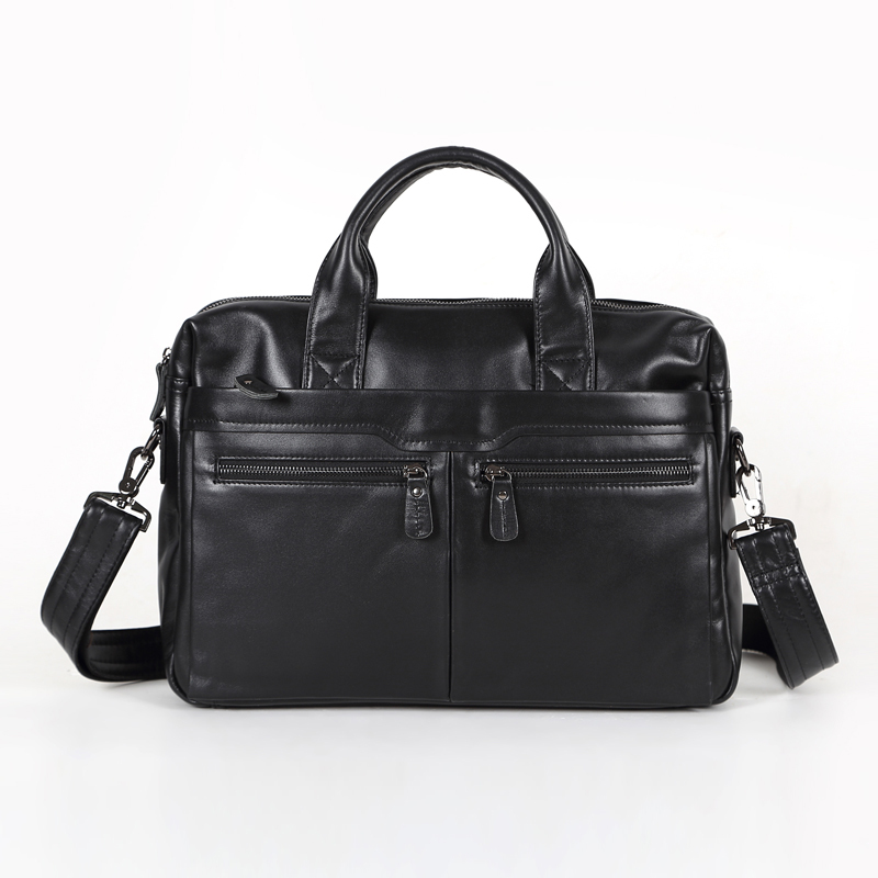 Maxwell Black 100% Guarantee Real Skin Genuine Leather Men Messenger Bags 14 Laptop Bag Briefcase Portfolio #MW-M7122<br><br>Aliexpress