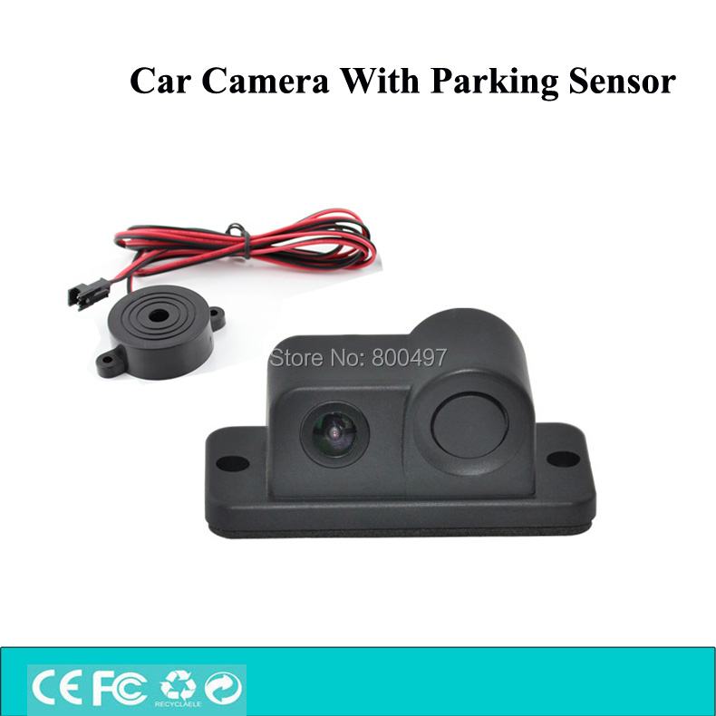 Newest Design 2 in 1 Automobile Car Visual Rear View Camera With Backup Parking Sensor Radar System For Parking Assistance(China (Mainland))