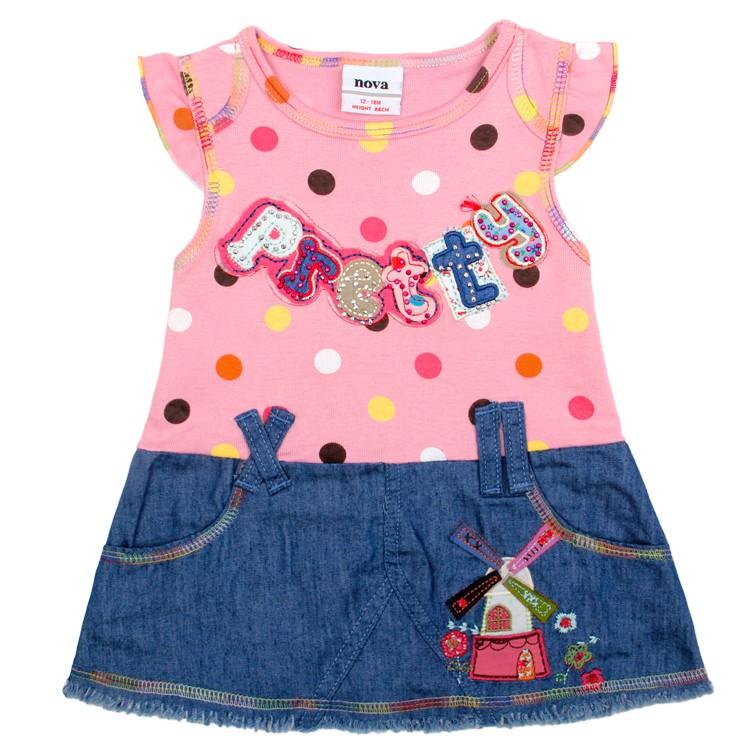 Dresses Baby Girls Hot Summer Embroidery Children Clothes Polka Cotton Nova Brand Beautiful Kids