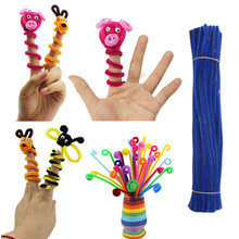 100Pcs Pack Chenille Stems Pipe Cleaners Kids DIY Toys Animals Soft Plush Educational Toy Handicraft Materials For Kids Creative(China (Mainland))