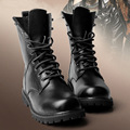 2016 Winter Women Ankle Boots Fashion Genuine Leather Unisex Lace Up Motorcycle Boots Shoes Plus Size