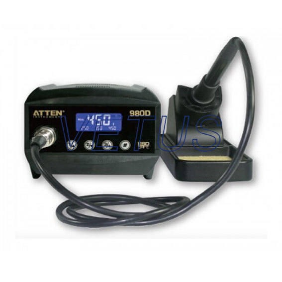 Фотография AT-980D 80W LCD Digital dispaly Antistatic thermostat temperature control advanced electric welding machine