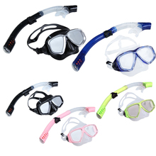 Hot sale 2IN1 Diving Protective Goggle Breathing Tube Snorkeling Mask Set Portable Free Shipping H1E1(China (Mainland))