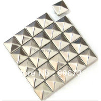Wholesales 500PCS/Bag 10mm Spiked Punk Stud Silver Metal Leather Craft Studs Rivets