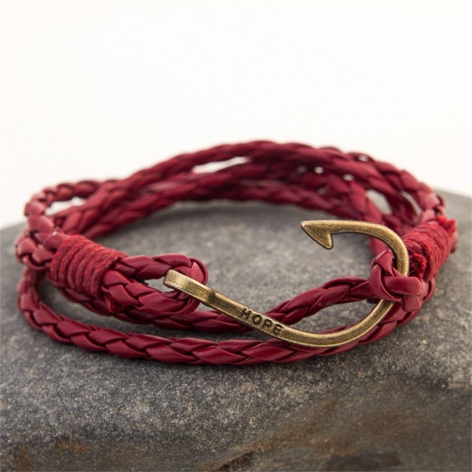 Wholesale Women Bracelets Charm Bracelet Pendants Fashion anchor braid Weave Chain(China (Mainland))