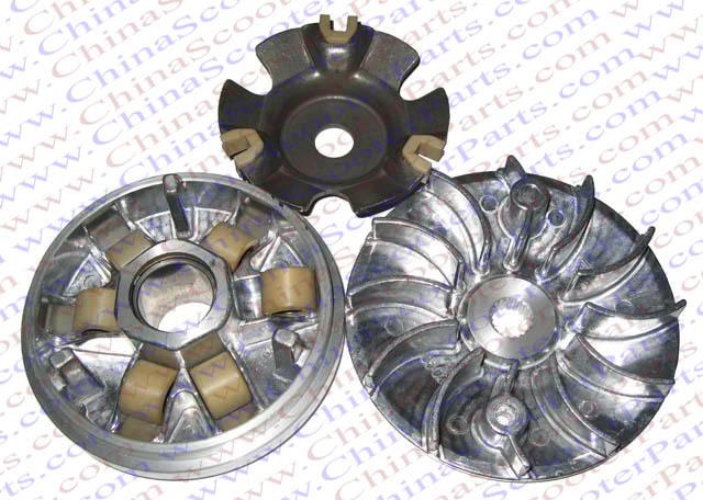 115MM 19T Variator Kit font b GY6 b font 125cc 150cc 152QMI 157QMJ Jonway Baja Kazuma
