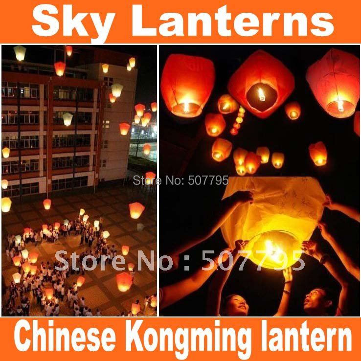 free shipping Chinese Kongming lantern Sky Lanterns,Wishing Lantern fire balloon Wishing Lamp for BIRTHDAY WEDDING PARTY gift(China (Mainland))