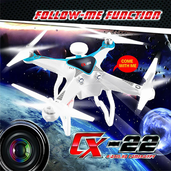 Cheerson CX-22 CX22 Follower 5.8G FPV 1080P Camera Dual GPS RC Quadcopter Brushless Gimbal Circle Hovering UFO RTF VS CX-20 CX20