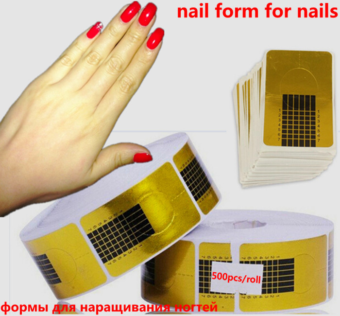 Lowest Price-high quality 200pcs/pack Professional Nail Forms Acrylic Nails Gel Nails Extension Nail Stickers Dropshipping(China (Mainland))