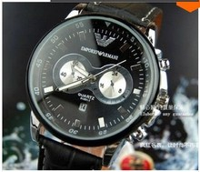 Marca hombres deportes relojes de cuarzo horas fecha mano de lujo reloj completo hombres reloj de acero envío gratis HD25