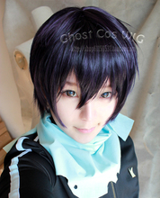 Anime Noragami yato Cosplay Wigs Short Navy Synthetic Hair Wigs Halloween Costume Party Perucas Peruca(China (Mainland))