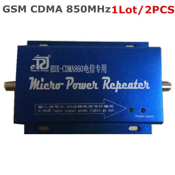 2PCS LCD Family 3G GSM CDMA 850MHz 850 Mini Cell Phone Mobile Phone Signal Enhancer Booster Repeater Amplifier Free shipping(China (Mainland))