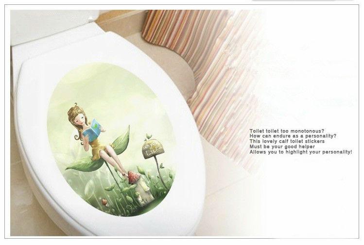 toilet muur decoratie