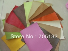 0.7MM thick 20*20cm 20 assorted color embossed Artificial leather Patchwork PU leather fabric  for handmade DIY Freeshipping(China (Mainland))