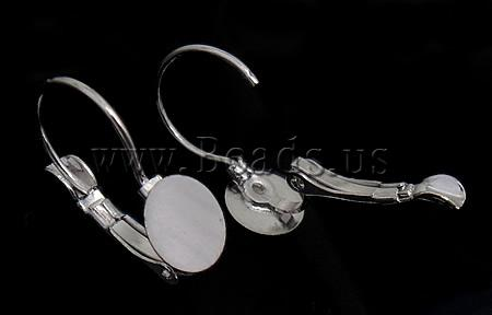 Free shipping!!!Brass Lever Back Earring Component,Factory Price, silver color plated, nickel, lead & cadmium free, 8x20x13mm