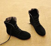 2015 otoño y el invierno de la nieve para mujeres y hombres Martin botas de ante botas de cuero parejas zapatos del algodón del envío gratis(China (Mainland))