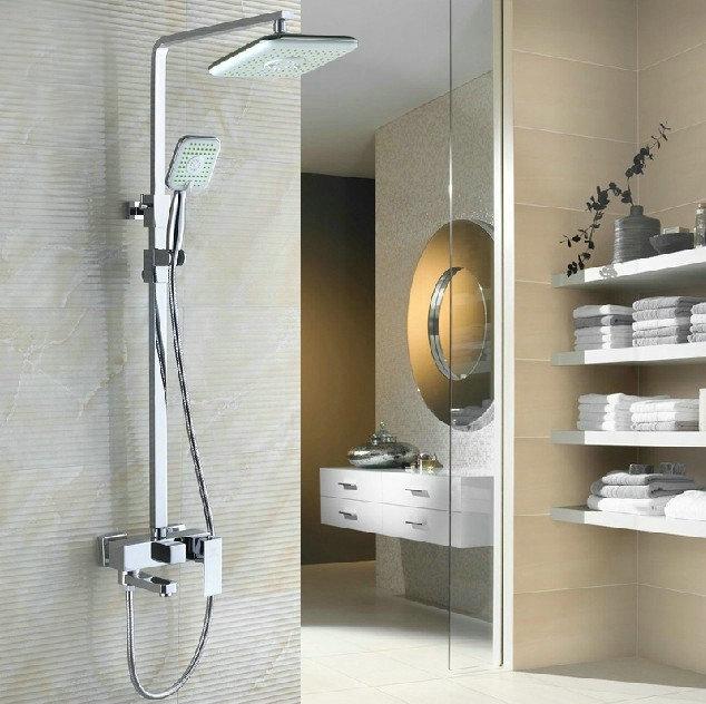 Shower Set Bathtub Faucet Torneira Rainfall Bathrooom Plastic Shower Head 54000/4 Wall Mounted Faucets,Mixers &Taps(China (Mainland))
