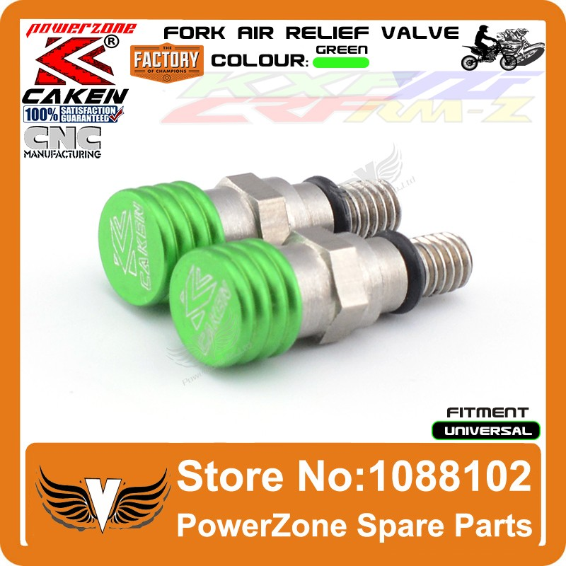 Fork Air Bleeder Relief Valve Green 3