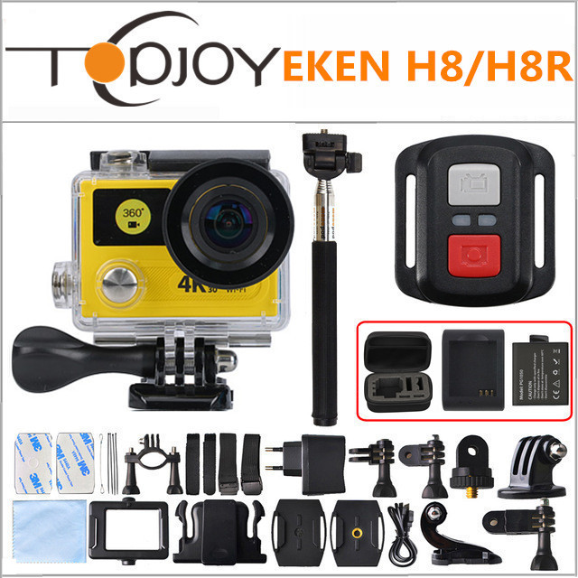 "Action camera EKEN H8 / H8R VR360 ultra 4K / 30fps WiFi 2.0""Dual LCD Remote Controller pro Helmet Cam go waterproof sport camera(China (Mainland))"