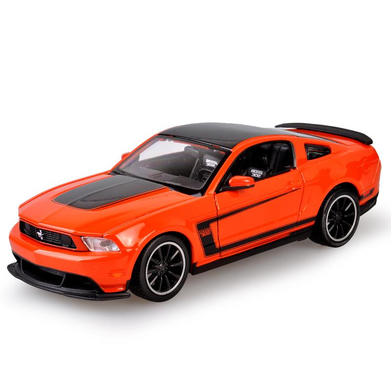 Maisto Diecast Car model Mustang BOSS 302 Orange 1:24 Alloy Car model Toy Vehicle Car Model Alloy Model Toys toy car(China (Mainland))