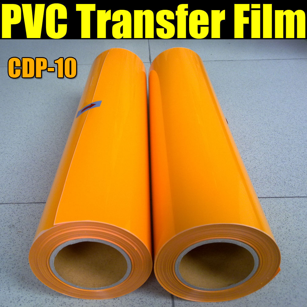 Free shipping PVC Heat Transfer Film for T-shirt & Heat Transfer Film for Textile with size:0.5x25m/Roll CDP-10 COLOR(China (Mainland))