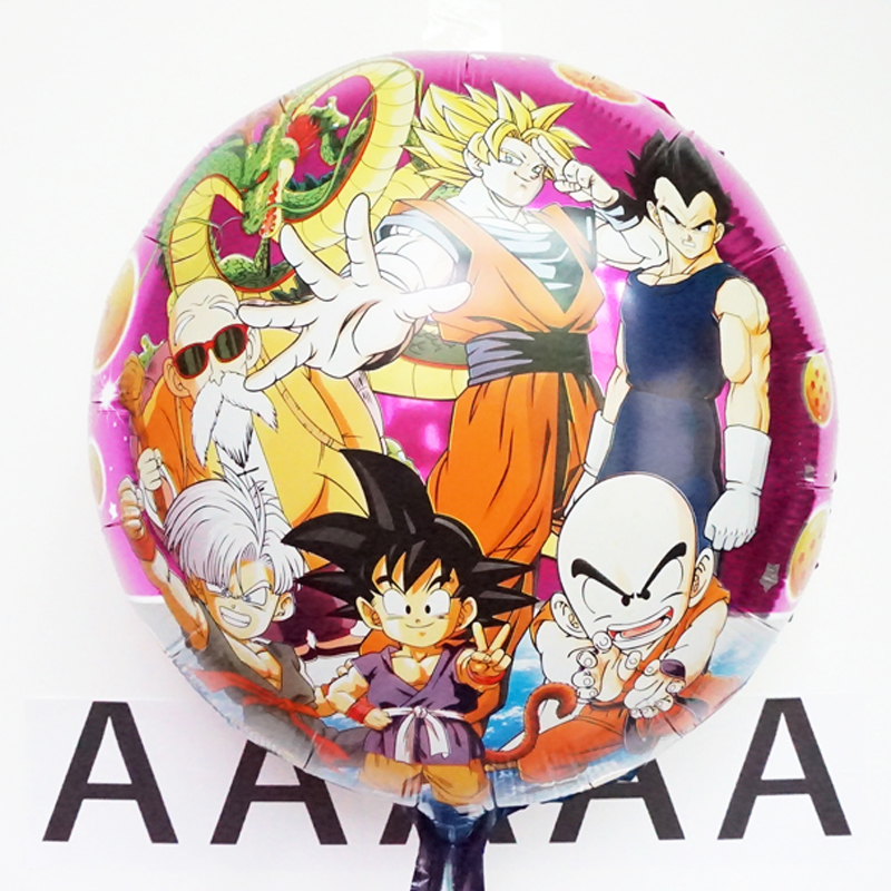 5pcs/lot 45*45cm Dragon Ball Balloons Dragonball Foil Air Balloon For Birthday Party Inflatable Globos Boys Classic Toys(China (Mainland))