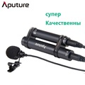 Aputure A lav Lavalier Microphone Professional Omnidirectional Lavalier Condenser Mic for DSLR Mobile Phone Pad Recorder