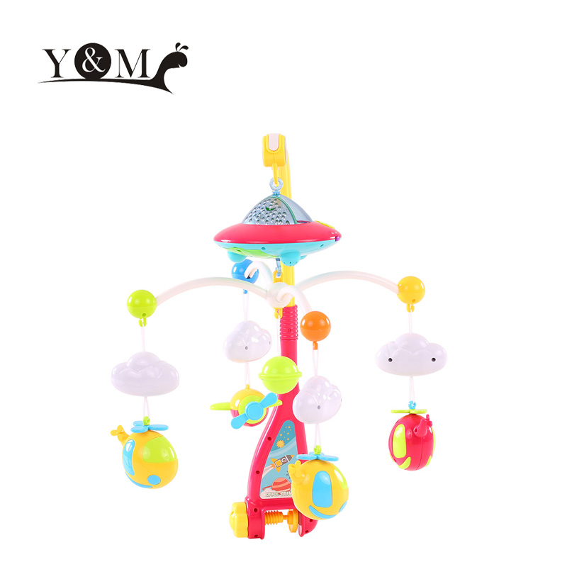 Baby Toys 0-12 months Bed Bell Musical Mobile Crib Bell Dreamful Bed Ring Hanging Rotate Bell Rattle Parent Remote Control Toys(China (Mainland))