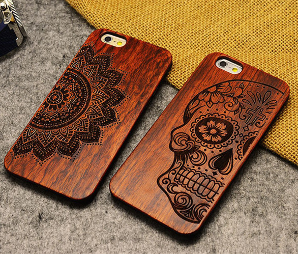 Retro PC+Wood Skull Case for iPhone 5 5S Novetly Vintage Case Cover for iPhone(China (Mainland))
