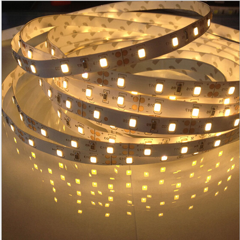 5M/Roll LED Strip Light dc12V 2835 SMD 300 LED Tape Light String Ribbon Non-Waterproof Warm White / Cool White/Blue/Yellow(China (Mainland))