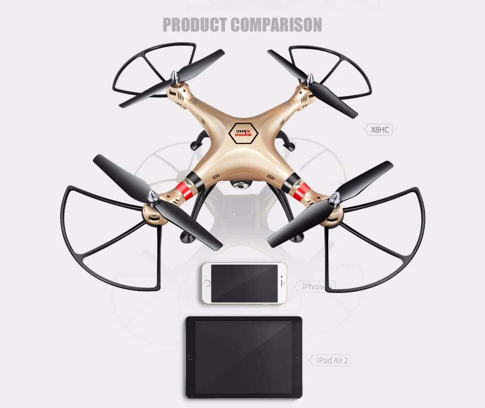 SYMA X8HC X8HG 6-Axis with HD Camera X8HW 3 Battery with Wifi Real-TIme RC Quadcopter Fix High Hover UAV 3D Roll Helicopter Toys