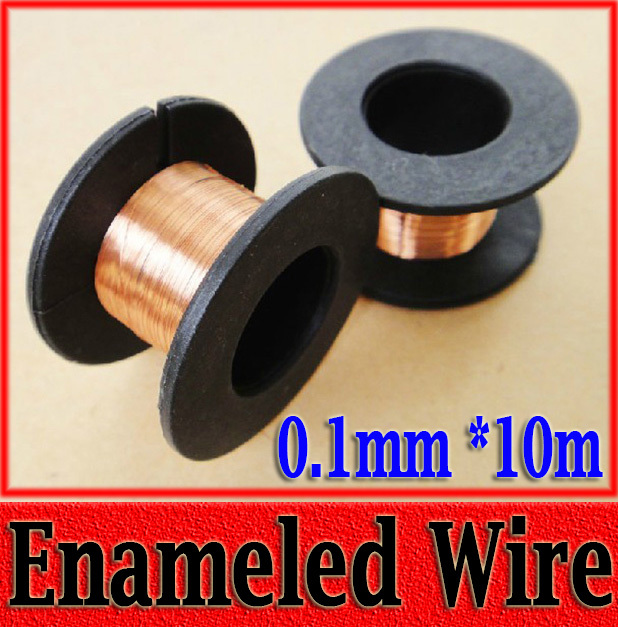 0.1mm*10m Enameled Wire Fine Copper Wire Welding Line Copper Coil 5pcs(China (Mainland))