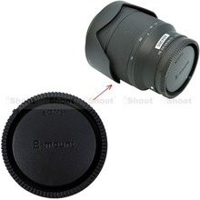 Задняя крышка объектива для Sony E / FE / SEL крепление объектива E20 / 2.8 ; E30 / 3.5 м ; E35 / 1.8 ; E50 / 1.8 ; E55-210 / 4.5 — 6.3 ; E PZ18-105 / 4