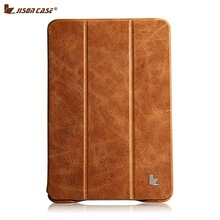 Jisoncase Luxury Genuine Leather Case For iPad mini 2 & mini 3 Ultra Thin Smart Stand Folio Flip Covers & Cases(China (Mainland))