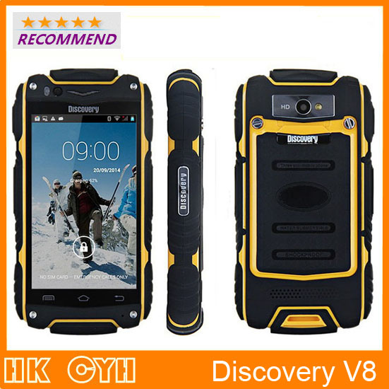 Original Discovery V8 waterproof shockproof WCDMA 3G GPS 4 0 Screen MTK6582 Dual Core 1 3GHZ