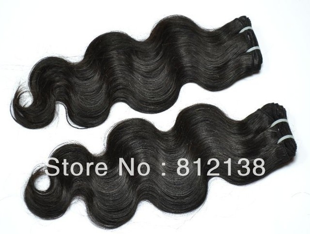 "Wholesale Body Wave,10pcs*8""-30"",free shipping, 100% virgin brazilian human hair extension ,remy hair, 1b(95-100g/pc)"