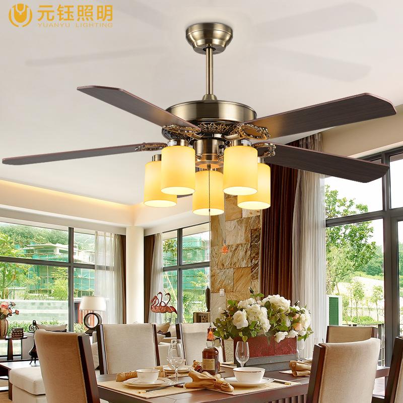 Yuan yu europ ischen stil fan lampe wohnzimmer kronleuchter schlafzimmer dekoration - Wohnzimmer kronleuchter ...