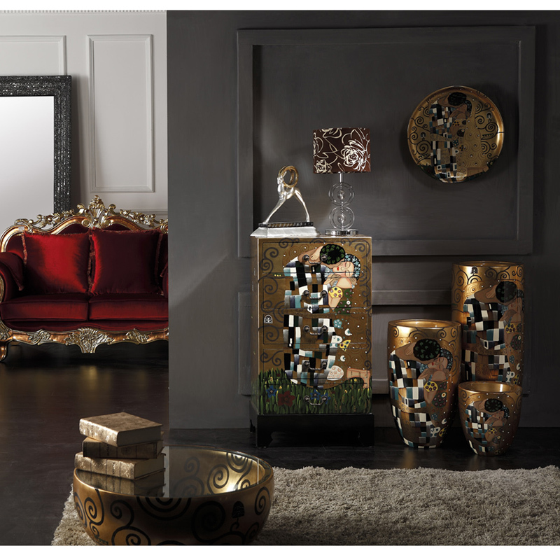 Southeast Asian and Western neo-classical style portraits painted chest of drawers kissing decorative cabinet luxury villa club(China (Mainland))