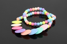 Newest DIY Handmade Fashion Kids Girls Multicolor Beads Chain Necklaces Children Jewelry Wholesale