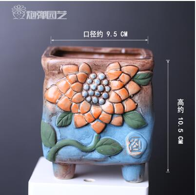 2016 Creative retro large ceramic pots fleshy succulents pots small simple Chinese style mini macarons free shippingLH1022(China (Mainland))