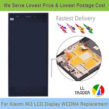 WCDMA Version Replacement For Xiaomi Mi3 M3 LCD Display Digitizer Touch Xiaomi 3 Lcd Screen Assembly with Frame + Tools
