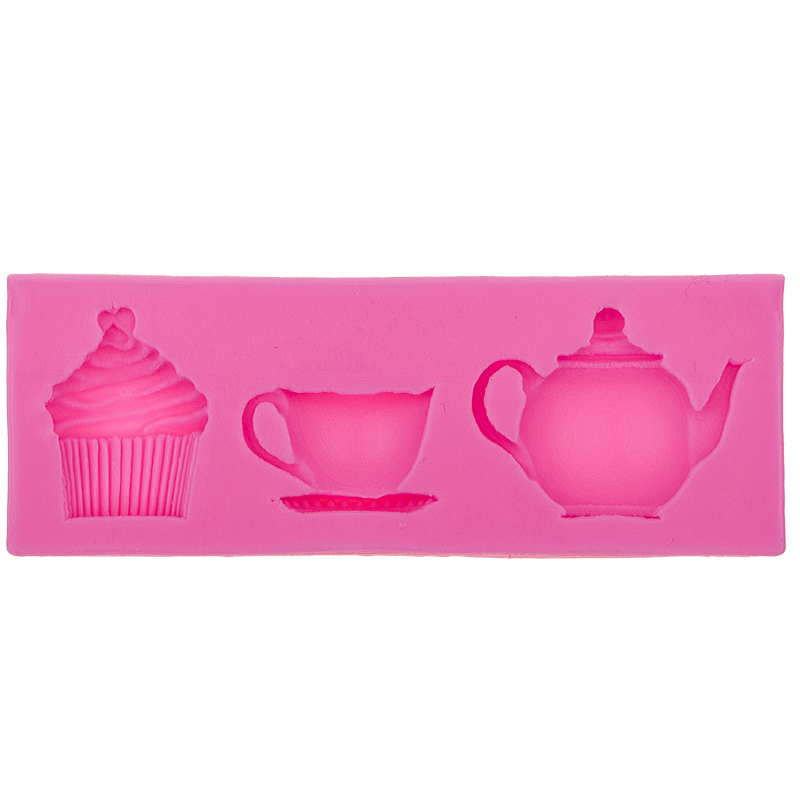 3 Hold teapot cup tea Chocolate Candy Jello 3D silicone Mold cake Decorating tools Polymer Clay Resin Candy Fimo Super Sculpey(China (Mainland))