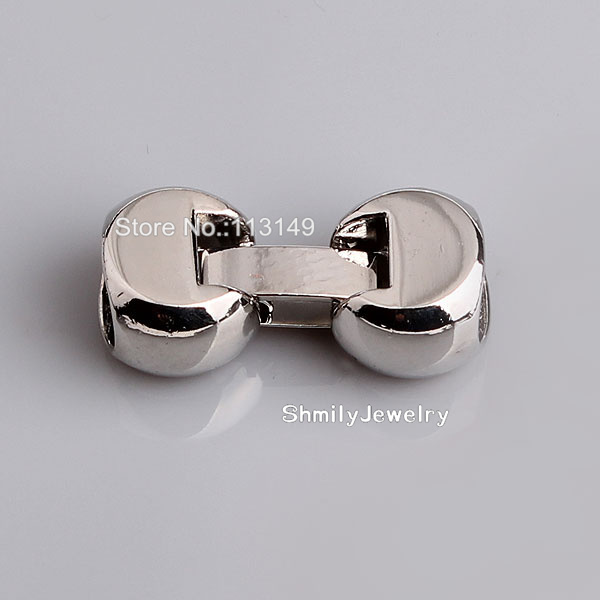 Free Shipping Unique Charm Jewelry Connectors Copper Metal End Caps Lock Clasps For Leather Bracelets PMC-S002(China (Mainland))
