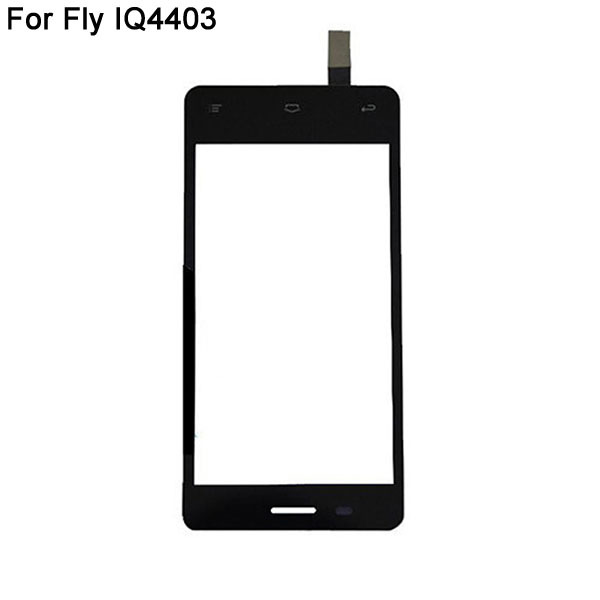 For Fly IQ4403 Touch Screen Digitizer Replacement Cell Phone Front Touch Glass Lens With Sensor Repair Original Quality Black(China (Mainland))