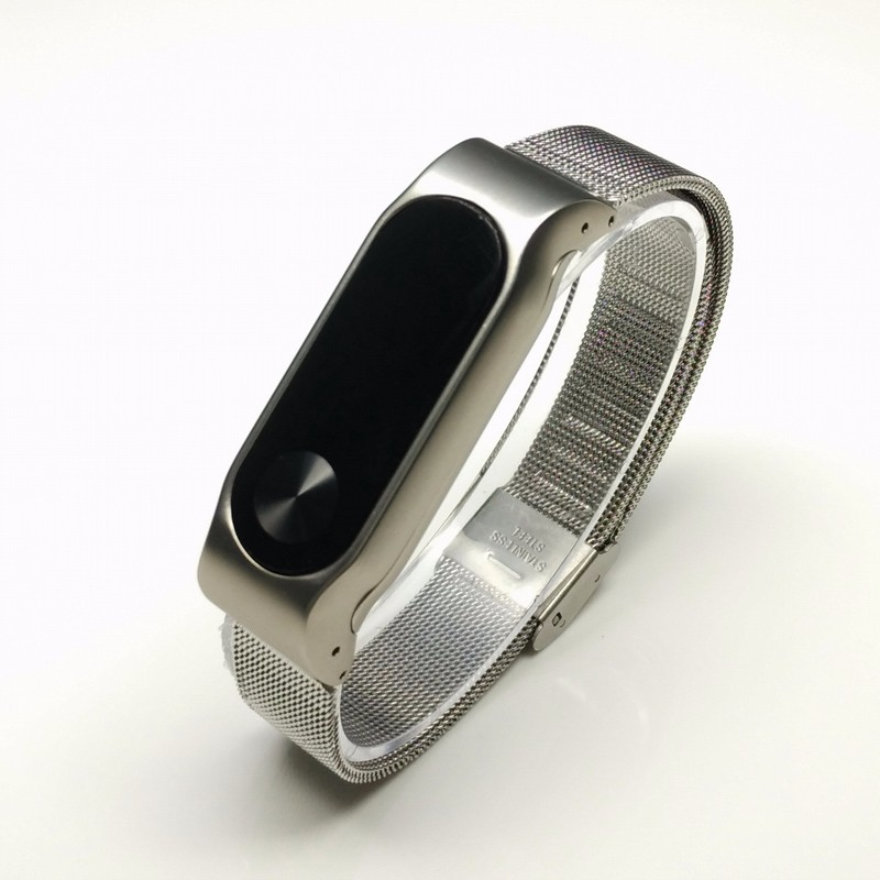 image for Replace To Xiaomi Mi Band 1S Smart Wristband Metal Strap For Xiaomi Mi