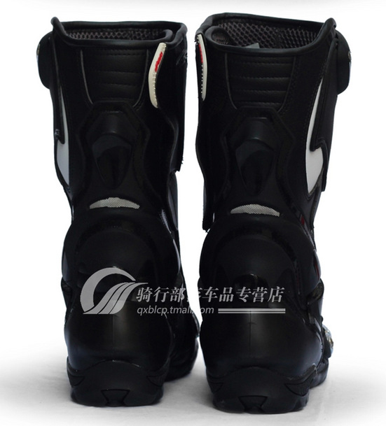 Free shipping personalized travel motorcycle racing boots riding boots PRO-BIKER Hot Wheels Ares road boots B1002 /black