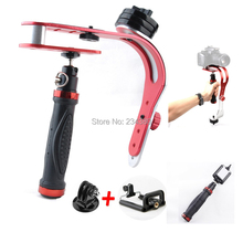 3in11 set Handheld Stabilizer Gopro handheld tripod monopod SmartPhone Holder Mount for iP one 5S 6GoPro