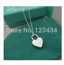 Free Shipping 925 Silver heart pendant Necklace , Trendy necklace Jewelry , high Quality , lover gifts jewelry(China (Mainland))