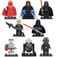 xinh 203-210 Star Wars 7 Figures Starwars Shadow Troopers Building Blocks Set Models Mini Figure Bricks Toys X0105 - Minifigures NO.1 store